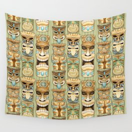Tropical Hawaiian Deluxe Tiki Party Pattern Wall Tapestry
