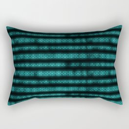 Blue Dna Data Code Rectangular Pillow