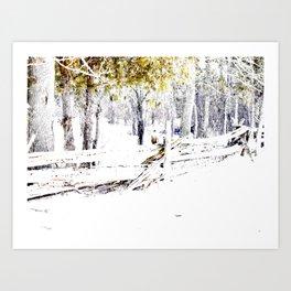 Winter Fence Line | Landscape | Nadia Bonello | Canada Art Print