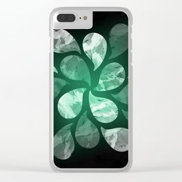 Abstract Water Drops XXX Clear iPhone Case