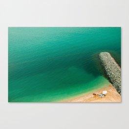 memories of palm jumeirah beach Canvas Print