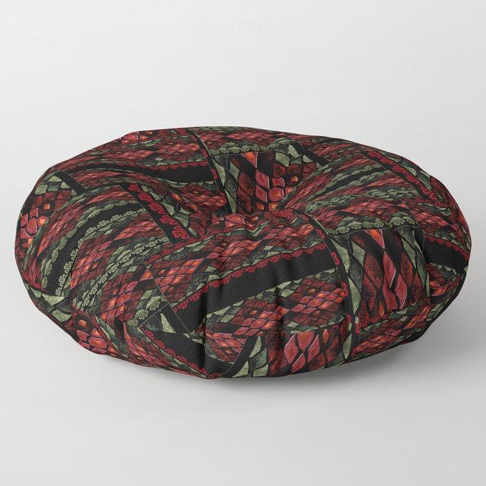 Patchwork seamless snake skin pattern texture Floor Pillow