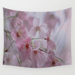 Delicate Pink Blossoms Wall Tapestry