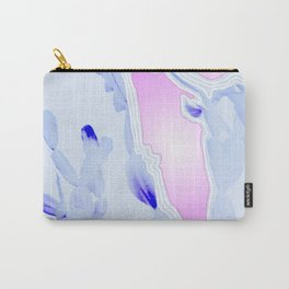 Blue Agate Slice Cacti Pattern Carry-All Pouch