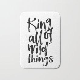 Be Brave Little One Nursery Art Little Boy's Room Wild Things Print King of All Wild Things Bath Mat