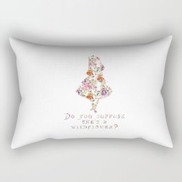 Do you suppose she's a wildflower? Rectangular Pillow