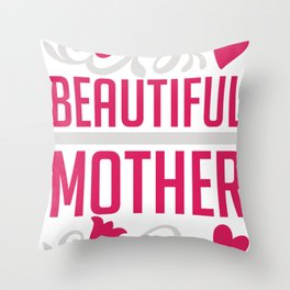 beautiful mother motherday i love mom Throw Pillow
