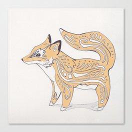 Cute Baby Fox Canvas Print