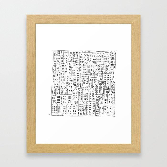 Coit City Pattern 1 Framed Art Print