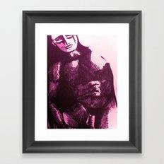 nude male pink Framed Art Print