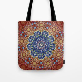 Woven Star in Blue and Red Tote Bag