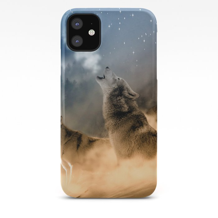Wolf Moon Dog Wild Animal iphone case