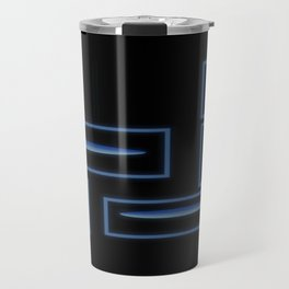 Blue Rocks in Space Travel Mug