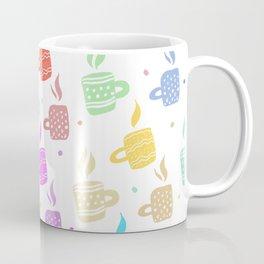 Modern pastel winter holidays coffee hand drawn pattern Coffee Mug
