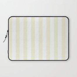 Narrow Vertical Stripes - White and Beige Laptop Sleeve