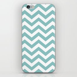Chalky Blue Chevron Pattern iPhone Skin