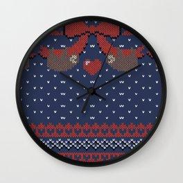 A Lazy Winter Sweater Wall Clock