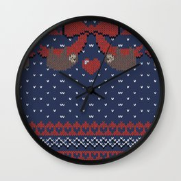A Lazy Winter Sweater Wall Clock