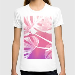 Pink Purple Sunset Gradient Tropical Swiss Cheese T-shirt