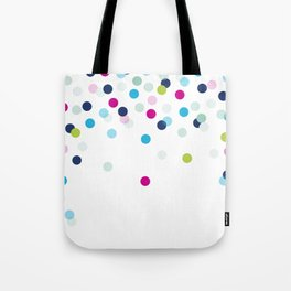 CUTE CONFETTI SPOTS - bright colorful - pink, aqua blue, mint, navy Tote Bag
