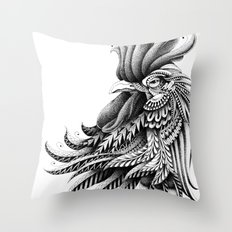 Ornately Decorated Rooster Throw Pillow