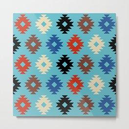 Colorful Southwestern Pattern 474 Metal Print