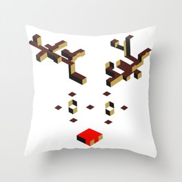 Rudolf the male Throw Pillow