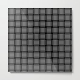 Dark Gray Weave Metal Print