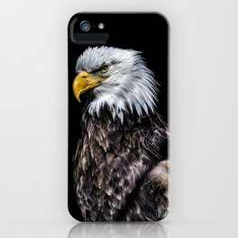 Eagle on Black iPhone Case