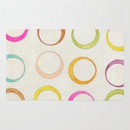 Retro Circles Watercolor Rug