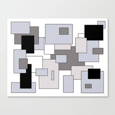 Squares - gray, black and white. Canvas Print