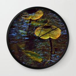 Lily Pads Under Water Wall Clock