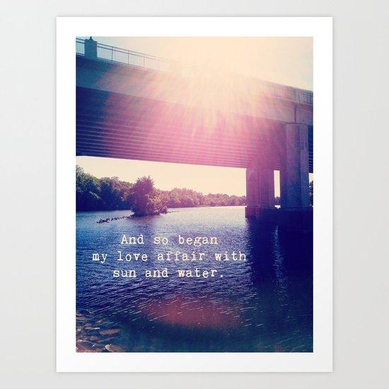 Sun and Water ❤ Art Print