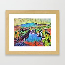 Abstract Irish Landscape Framed Art Print