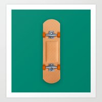 skateboard Art Prints featuring Skateboard Patch by Dan Cretu