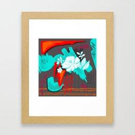 Popping Flower Framed Art Print