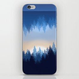 Winter Pines Reflected iPhone Skin