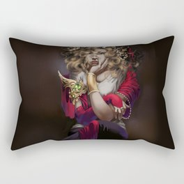 Lost in Thought Rectangular Pillow