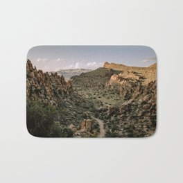 Balanced Rock Valley View in Big Bend - Landscape Photography Bath Mat