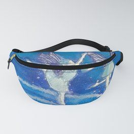 Blue Fairies in the Snow Fanny Pack
