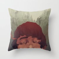 the cure Throw Pillows featuring Slow Cure by James M. Fenner