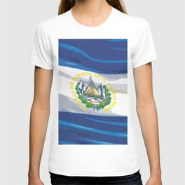 El Salvador Fancy Flag T-shirt
