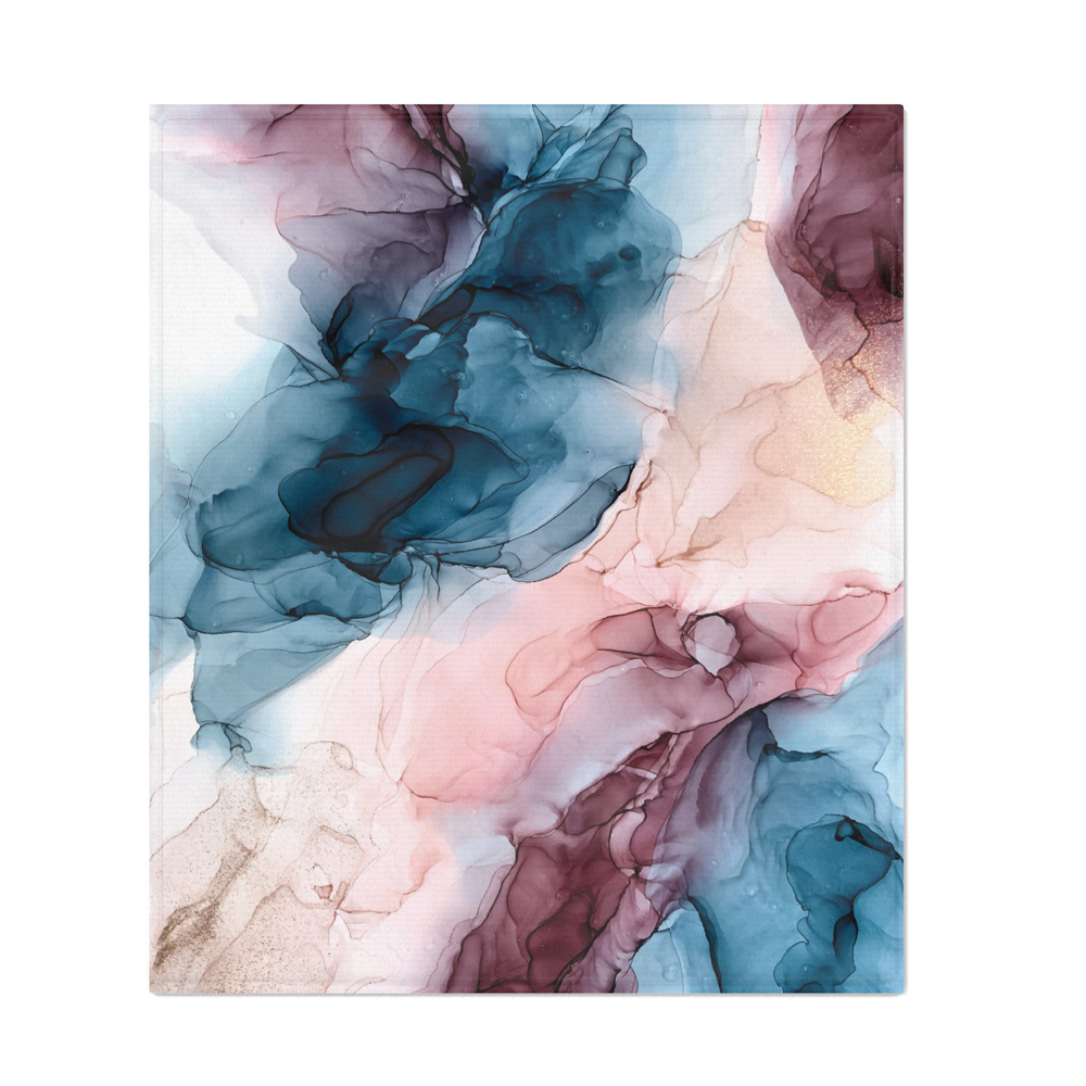 Pastel_Plum_Deep_Blue_Blush_and_Gold_Abstract_Painting_Throw_Blanket_by_elizabethschulz