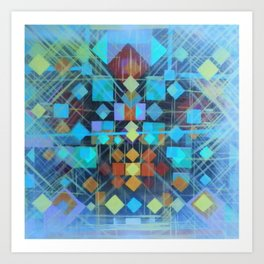Geometrical Fun Art Print