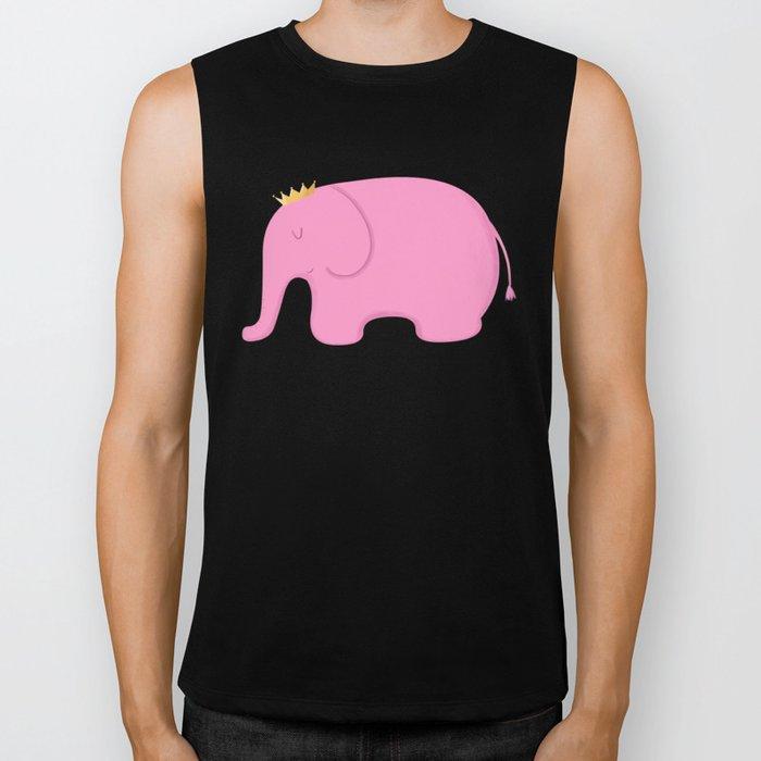 Queen Pink Elephant Biker Tank
