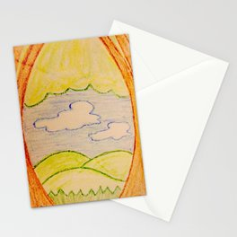 Trees hills and sky Stationery Cards