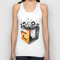 dj Tank Tops featuring DJ by DeanDesign