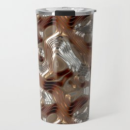 Liquid Metal Texture Travel Mug