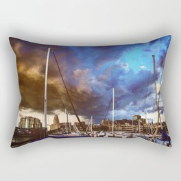 Storm Over the Erie Basin Marina Rectangular Pillow