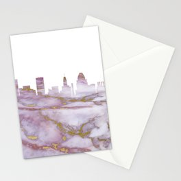 Baltimore Maryland Skyline Stationery Cards